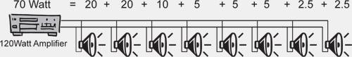 Схема подключение 100в акустика