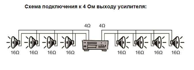 Схема подключения громкоговорителя Apart CMS20T