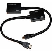Удлинитель HDMI сигнала по витой паре CAT-5e CAT-6e до 30m