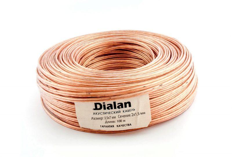 Акустический кабель Dialan CCA 2x1.50 мм