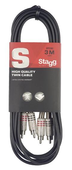 Аудио кабель 2RCA - 2RCA Stagg STC3C