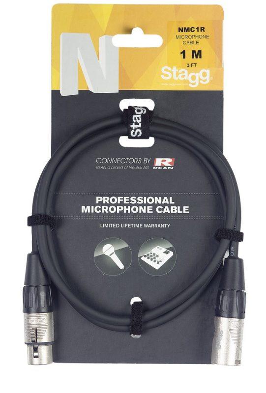 Микрофонный кабель XLR-XLR Stagg NMC1R