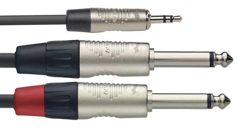 Stagg NYC3/MPS2PR аудио шнур (Y-кабель)