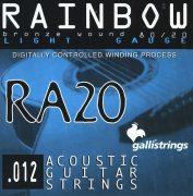 Струны для акустической гитары Galli Rainbow RA20