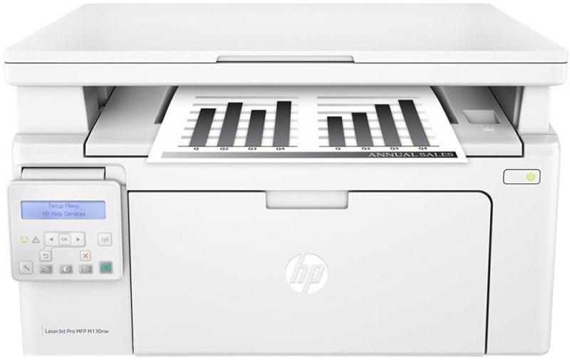 Принтер лазерный МФУ HP LJ Pro M130nw c Wi-Fi