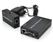 Активный удлинитель VGA сигнала до 300m по витой паре Cat5e