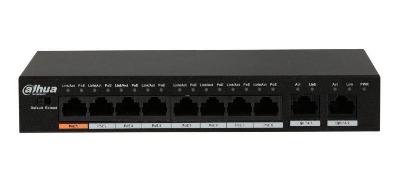 Коммутатор POE Dahua PFS3009-8ET-96 с 8 портами POE + 1 UP-Link