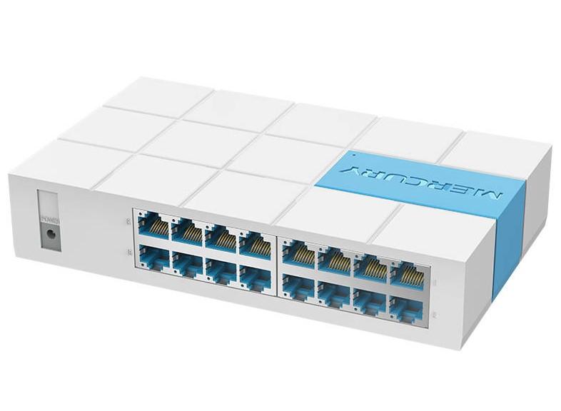 Коммутатор Mercury S116M, 16 портов Ethernet 10/100 Мбит/сек