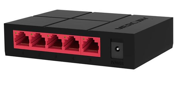 Коммутатор Mercury SG105M 5 портов Ethernet 10/100 Мбит/1000 Мбит/сек