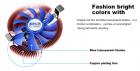 Кулер процессорный Pccooler E86 для Intel LGA775/1155/1156 и AMD AM2, 3-pin, RPM 2700±10%