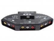 Switch 3RCA переключатель 3x3RCA на 1x3RCA