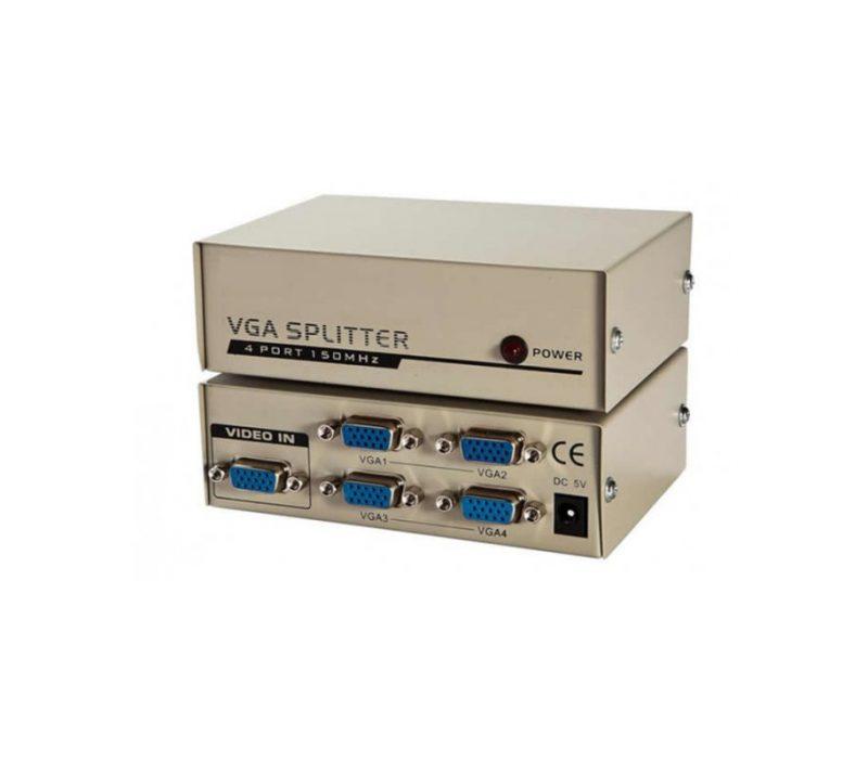 Активный сплиттер VGA 1x4 KV-FJ1504A 150MHz