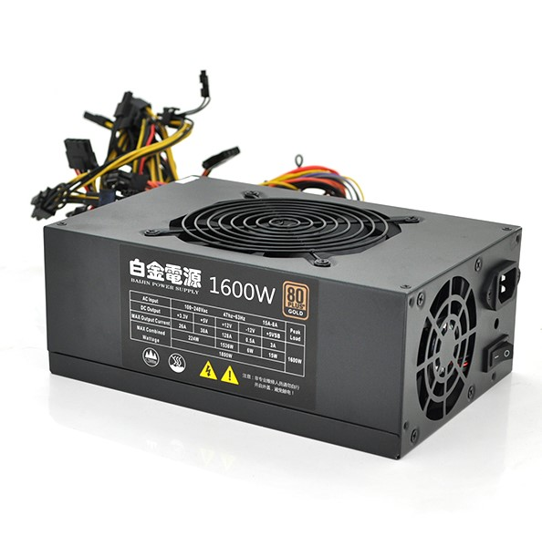 Блок питания компьютерный ATX BTB-1600W 80Plus