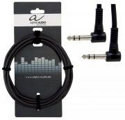 Инсертный кабель угловой Jack 6,3- угловой Jack 6,3 0.6м Alpha Audio Basic 190.375