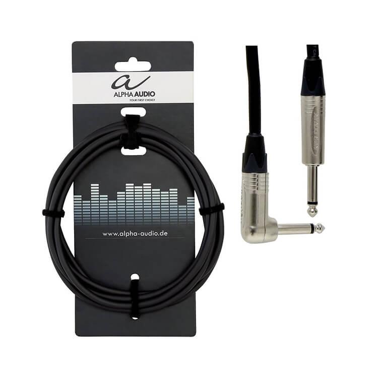 Jack 6,3- угловой Jack 6,3 3м Alpha Audio Peack Line 190.820