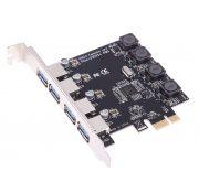 Контроллер PCI-Е - USB 3.0, 4 порта 5Gbps