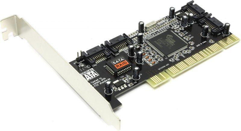 Контроллер PCI - SATA 2.0, SIL3114, 4 порта внутренних, RAID
