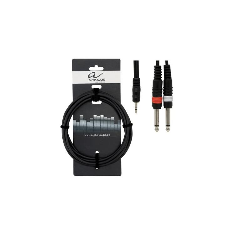 mini Jack 3,5 - 2xJack 6,3 3м Alpha Audio Basic 190125