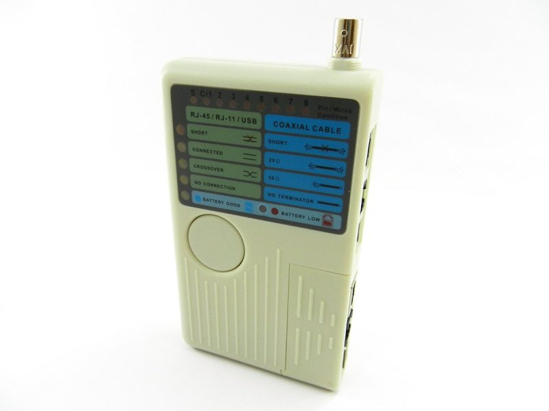 Кабельный тестер NT-T040, RJ-45 -11-12, USB, BNC