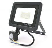 Прожектор LED c датчиком движения ZB-PGGY-20W, IP66, 7000K