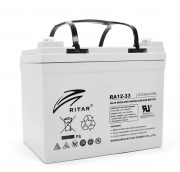 AGM RITAR RA12-33, Gray Case, 12V 33.0Ah