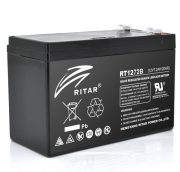 AGM RITAR RT1272B, Black Case, 12V 7.2Ah