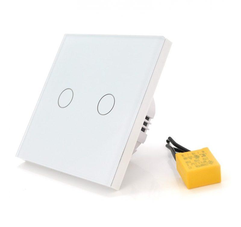 Выключатель сенсорный умный WiFi Voltronic 2-х канальный