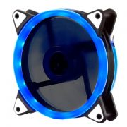 Кулер корпусной Voltronic sleeve fan 3pin + 4pin Blue, двухсторонний
