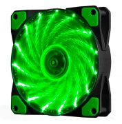 Кулер корпусной Voltronic sleeve fan 3pin + 4pin Green