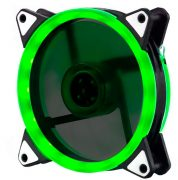 Кулер корпусной Voltronic sleeve fan 3pin + 4pin Green, двухсторонний