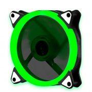 Кулер корпусной Voltronic sleeve fan 3pin + 4pin Green, односторонний