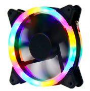 Кулер корпусной Voltronic sleeve fan 3pin + 4pin Pink-Yellow-Blue-Red, двухсторонний