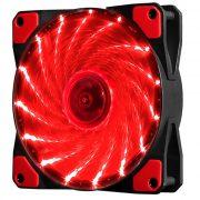 Кулер корпусной Voltronic sleeve fan 3pin + 4pin RED