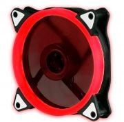 Кулер корпусной Voltronic sleeve fan 3pin + 4pin Red, односторонний