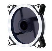 Кулер корпусной Voltronic sleeve fan 3pin + 4pin White, двухсторонний