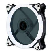 Кулер корпусной Voltronic sleeve fan 3pin + 4pin White, односторонний